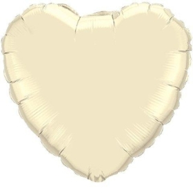 Ivory Foil Heart Balloon