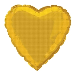 Gold Foil Heart Balloon